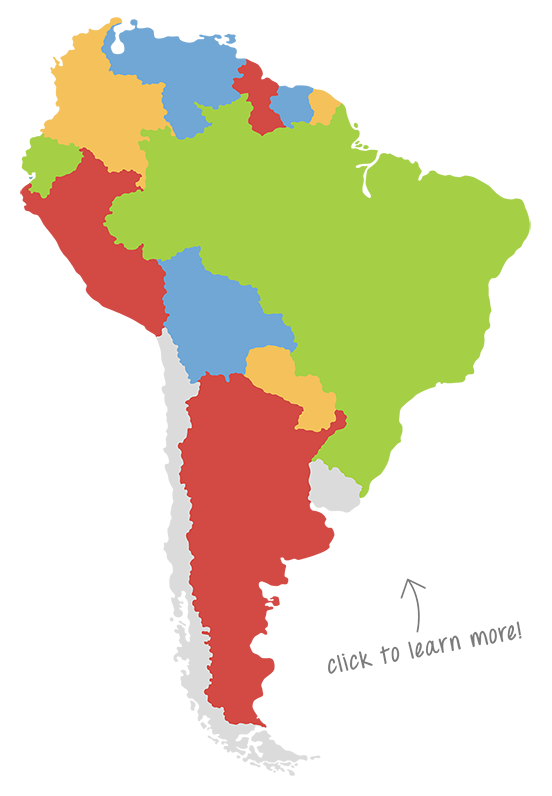 where are we south america map
